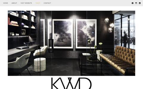 Screenshot of FAQ Page wordpress.com - FAQ's – Kate Walker Design – KWD - captured Oct. 15, 2018