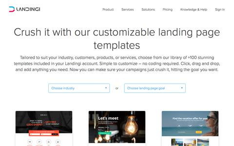 Free landing page templates to boost your revenue | Landingi
