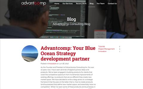 Screenshot of Blog advantcomp.com - Advantcomp Consulting - Blog - captured Oct. 7, 2017
