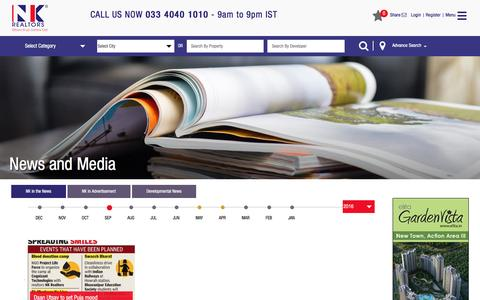 Screenshot of Press Page nkrealtors.com - Media   News - captured Nov. 14, 2016