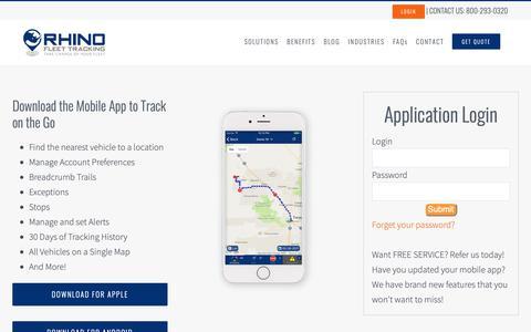Screenshot of Login Page rhinofleettracking.com - Rhino Fleet Tracking System Login - captured June 13, 2019