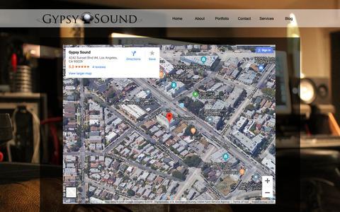 Screenshot of Maps & Directions Page gypsysoundla.com - Gypsy Sound LA | Map - captured Sept. 30, 2018