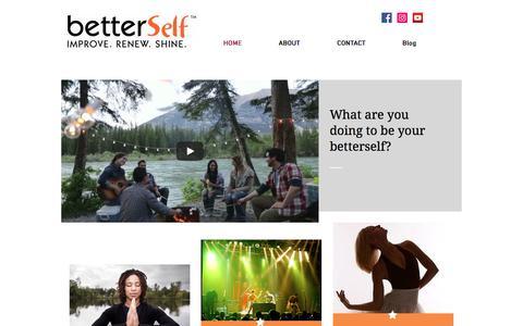 Screenshot of Home Page betterself.com - mysite - captured Aug. 4, 2018