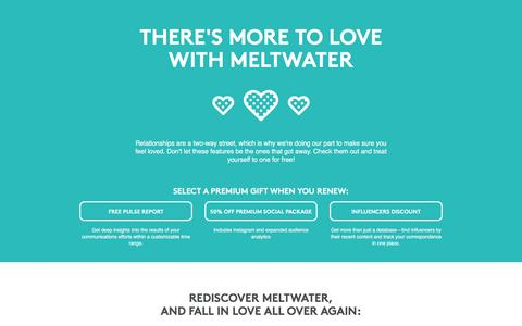 Screenshot of Landing Page meltwater.com - There's more to love with Meltwater - captured April 5, 2017