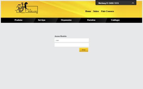 Screenshot of Login Page werlang.com.br - Werlang - captured July 7, 2017