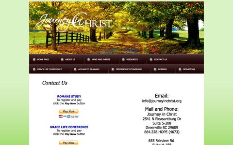 Screenshot of Contact Page journeyinchrist.org - Staff - captured Oct. 6, 2014