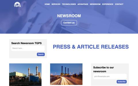 Screenshot of Press Page thermogenpower.com - Power Plant Performance Articles | TGPS Global Leader in Performance Testing - captured Oct. 18, 2018