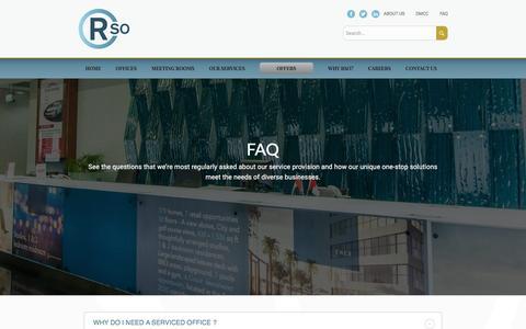 Screenshot of FAQ Page r-offices.com - FAQ - RSO - captured Jan. 24, 2016