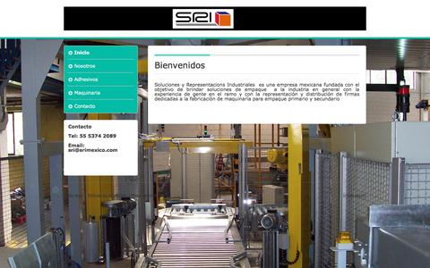Screenshot of Home Page solucionesyrepresentaciones.com.mx - Soluciones y Representaciones Industriales - Página web de Soluciones y Representaciones Industriales - captured Oct. 22, 2017