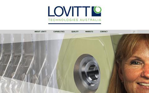 Screenshot of Home Page lovittech.com.au - Lovitt Technologies Australia - captured Sept. 9, 2017