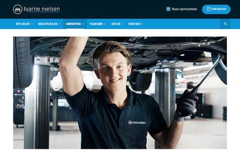 Screenshot of Services Page bn.dk - Værkstedsydelser - Bjarne Nielsen A/S - captured Oct. 16, 2017