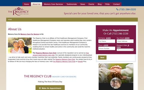 Screenshot of About Page regencymemorycare.com - Memory Care NJ | Memory Care For Seniors in NJ - captured Nov. 5, 2014