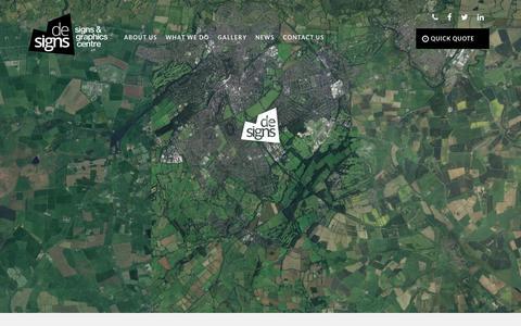 Screenshot of Contact Page designsharrogate.co.uk - De-Signs Harrogate  Contact Us - captured Oct. 8, 2018