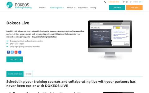 DOKEOS LIVE: virtual classrooms and remote meetings