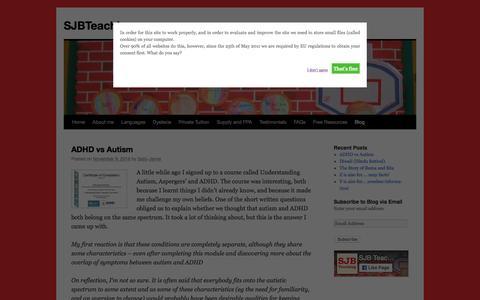 Screenshot of Blog sjbteaching.com - Blog | SJBTeaching - captured Nov. 18, 2016