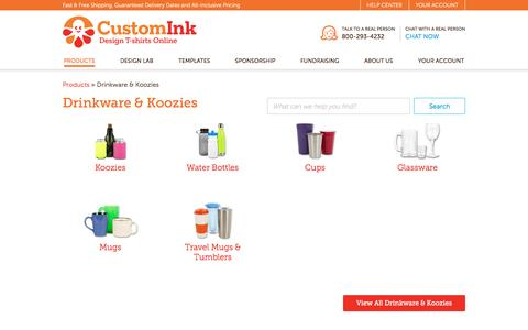 Design Custom Printed Koozies, Water Bottles, Cups & Mugs With Your Logo