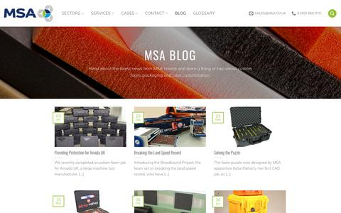 Screenshot of Blog msa.co.uk - Latest News, Guides & Advice from the MSA Foams Blog - captured Oct. 1, 2018