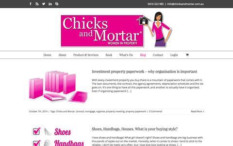 Screenshot of Blog chicksandmortar.com.au - Chicks and Mortar Blog - captured Nov. 4, 2014