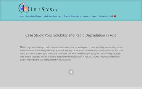 Screenshot of Case Studies Page irisys.com - Case Studies Archives - IriSys, LLC | IriSys, LLC - captured Aug. 6, 2016