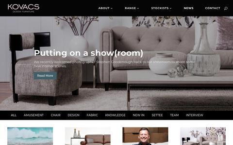 Screenshot of Press Page kovacs.co.nz - News | Kovacs Design Furniture - captured Dec. 20, 2018