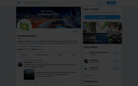 Tweets by Limelight Networks (@llnw) – Twitter