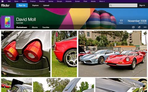Screenshot of Flickr Page flickr.com - Flickr: David Moll's Photostream - captured Oct. 23, 2014