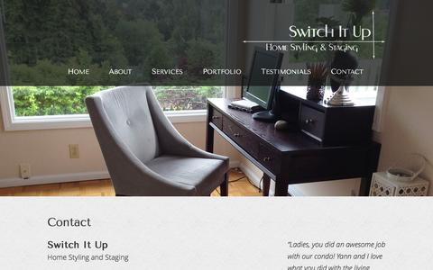 Screenshot of Contact Page switch-it-up.com - Contact | Switch It Up, Seattle, Bellevue, WA - captured March 7, 2016