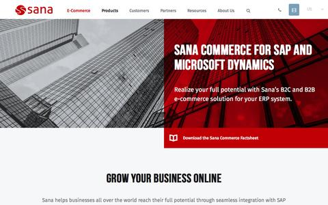 Screenshot of Products Page sana-commerce.com - Sana Commerce Products | Sana Commerce - captured May 27, 2017