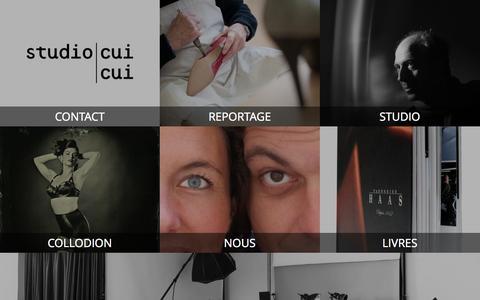 Screenshot of Menu Page studiocuicui.fr captured Nov. 5, 2014