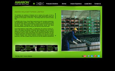 Screenshot of About Page amaron.in - Amaron - About Us - captured Sept. 23, 2014