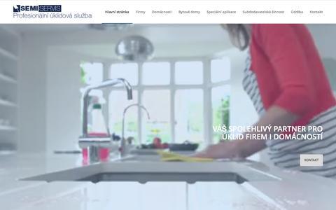 Screenshot of Home Page semiservis.cz - Úklid Olomouc Semiservis | Profesionální úklid - captured Nov. 29, 2016