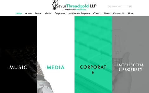Screenshot of Home Page savurlaw.com - SavurThreadgold LLP - captured Oct. 2, 2018