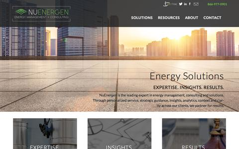 Screenshot of Home Page nuenergen.com - NuEnergen - captured Feb. 26, 2016