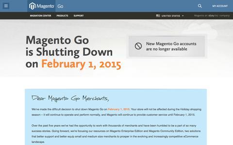 Screenshot of Site Map Page gostorego.com - eCommerce Solutions & Online Store Software | Magento Go - captured Oct. 10, 2014