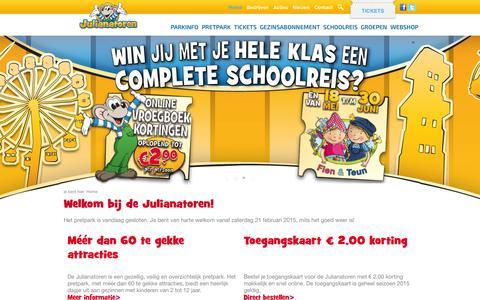 Screenshot of Home Page julianatoren.nl - Welkom bij de Julianatoren! - Julianatoren - captured Jan. 30, 2015