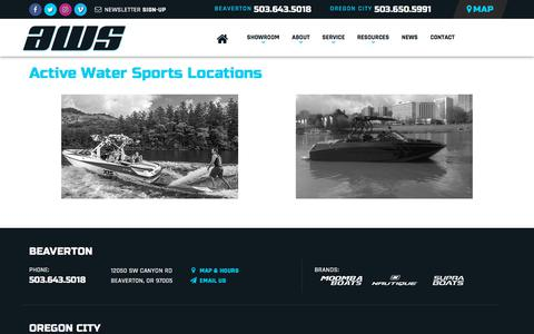 Screenshot of Locations Page Maps & Directions Page activeh2o.com - Locations | Active Water Sports | Beaverton Oregon - captured Oct. 7, 2017