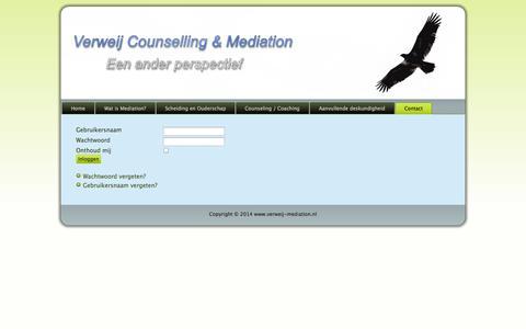 Screenshot of Login Page verweij-mediation.nl - Login - captured Oct. 26, 2014