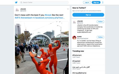 "Jitterbit on Twitter: ""Don't mess with the best if you #break like the rest! #df14 #streetteam https://t.co/7m5IH00FSx http://t.co/ju6gs4Kl5r"""