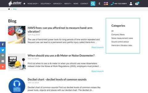 Screenshot of Blog Press Page pulsarinstruments.com - Blog | Pulsar Instruments - captured Sept. 14, 2019