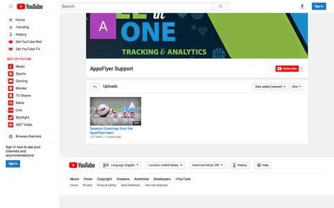 AppsFlyer Support  - YouTube