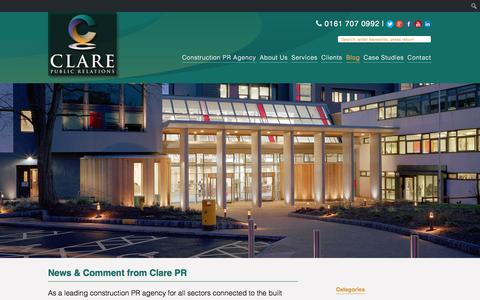 Screenshot of Blog clarepr.com - Blog - Construction PR Agency - captured Jan. 28, 2016