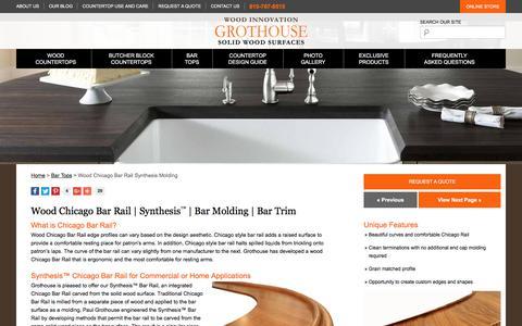 Screenshot of glumber.com - Wood Chicago Bar Rail | Synthesis™ | Bar Molding | Bar Trim - captured Oct. 26, 2017