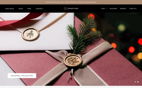 Screenshot of Home Page stamptitude.com - Stamptitude® | Wax Seal Specialists - captured Dec. 11, 2018