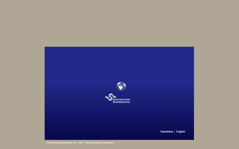 Screenshot of Home Page cosud.com - Constructora Sudamericana S.A. - captured Oct. 3, 2014