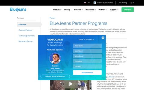 Partner Programs - BlueJeans