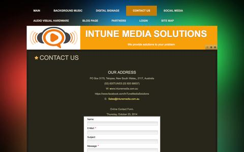Screenshot of Contact Page Maps & Directions Page intunemedia.com.au - Contact Us - captured Oct. 23, 2014
