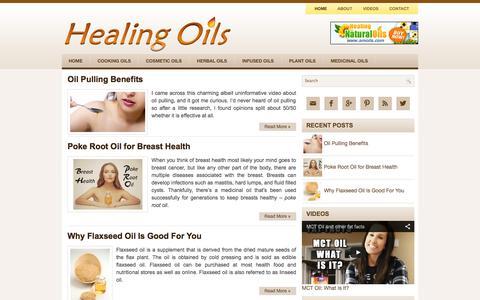 Screenshot of Home Page healing-oils.info - Healing Oils - captured Sept. 25, 2014