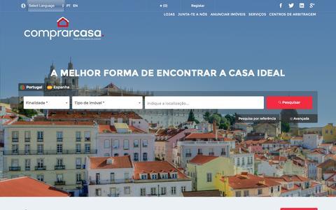 Screenshot of Home Page comprarcasa.pt - ComprarCasa, Rede Serviços Imobiliários, SA. - captured Dec. 31, 2016