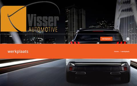 Screenshot of Services Page visserautomotive.nl - werkplaats – Visser Automotive - captured Sept. 20, 2018