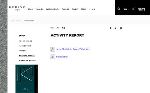 Activity Report | Kering